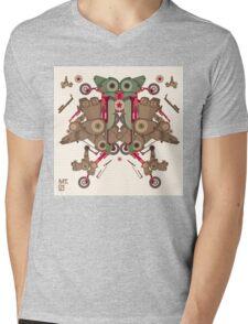 Vector Abstract robot character Mens V-Neck T-Shirt