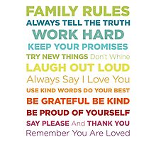Family Rules Photographic Print
