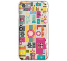 VIntage camera pattern wallpaper design iPhone Case/Skin