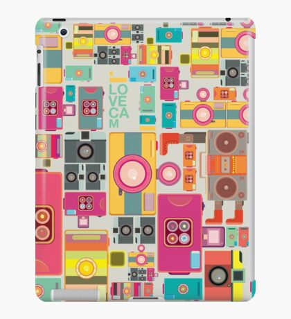 VIntage camera pattern wallpaper design iPad Case/Skin