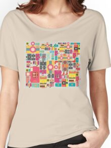 VIntage camera pattern wallpaper design Women's Relaxed Fit T-Shirt
