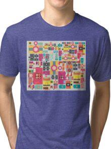 VIntage camera pattern wallpaper design Tri-blend T-Shirt