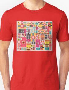 VIntage camera pattern wallpaper design Unisex T-Shirt