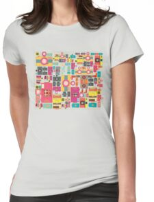 VIntage camera pattern wallpaper design Womens Fitted T-Shirt