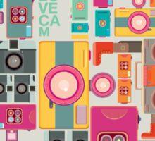 VIntage camera pattern wallpaper design Sticker