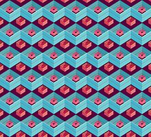 geometric pattern in aztec style by singpentinkhepi