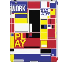 work and play smart iPad Case/Skin