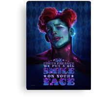 David Kawena's Circus Freaque - Smile  Canvas Print
