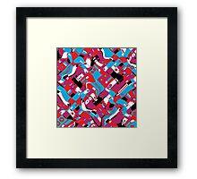 random blocks wave pattern Framed Print