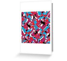 random blocks wave pattern Greeting Card