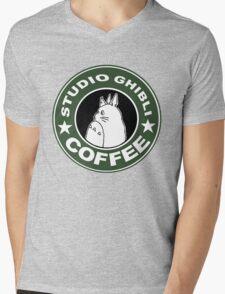 COFFEE: STUDIO GHIBLI Mens V-Neck T-Shirt