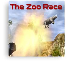 The Zoo Race Cannon Canvas Print