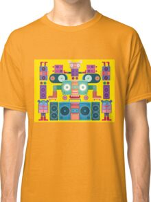 funny and cute vector boombox face pattern Classic T-Shirt