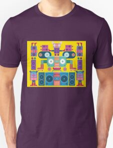 funny and cute vector boombox face pattern T-Shirt