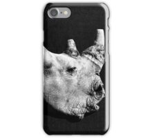White rhinoceros iPhone Case/Skin