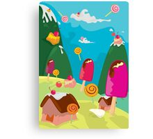 ice cream and candy land Canvas Print