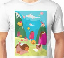 ice cream and candy land Unisex T-Shirt