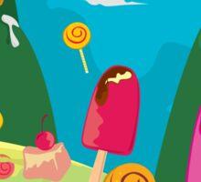 ice cream and candy land Sticker