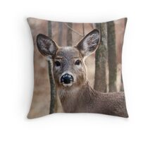 Female White-tailed Deer Throw Pillow