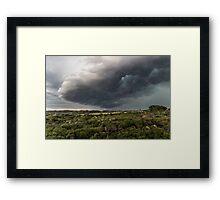 Storms a brewin' Framed Print
