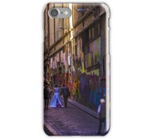 Bride amongst the street art iPhone Case/Skin