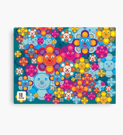 fun flower colorful pattern Canvas Print