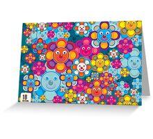 fun flower colorful pattern Greeting Card