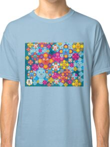 fun flower colorful pattern Classic T-Shirt