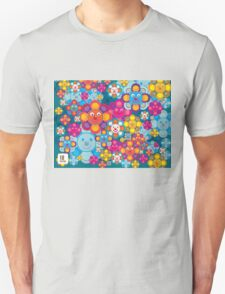 fun flower colorful pattern Unisex T-Shirt
