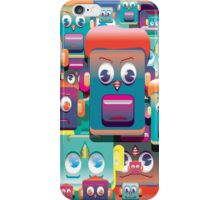 pattern face expression colorful iPhone Case/Skin
