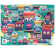 pattern face expression colorful Poster