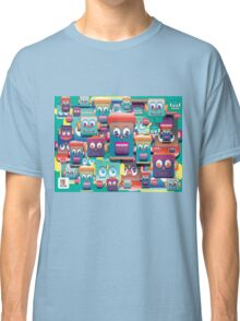 pattern face expression colorful Classic T-Shirt