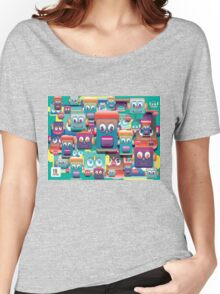 pattern face expression colorful Women's Relaxed Fit T-Shirt