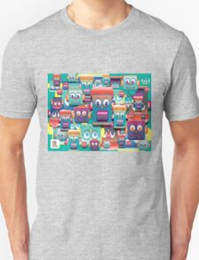 pattern face expression colorful T-Shirt