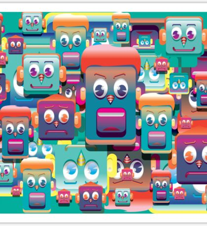 pattern face expression colorful Sticker