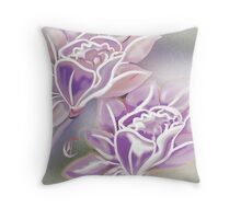 Wedding Roses in Purple - Vintage Throw Pillow