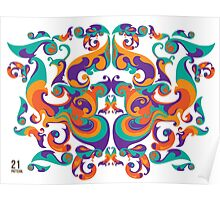 symmetrical vector colorful pattern Poster