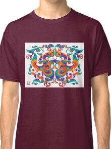 symmetrical vector colorful pattern Classic T-Shirt