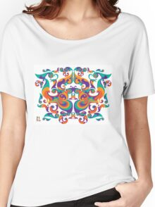 symmetrical vector colorful pattern Women's Relaxed Fit T-Shirt