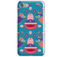 Cute colorful bird pattern vector iPhone Case/Skin