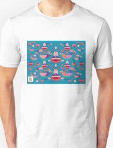 Cute colorful bird pattern vector Unisex T-Shirt
