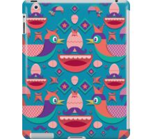 Cute colorful bird pattern vector iPad Case/Skin