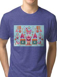 Vector cartoon music band equipment Tri-blend T-Shirt