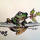 Christmas frog. Elizabeth Moore Golding 2014© by Elizabeth Moore Golding