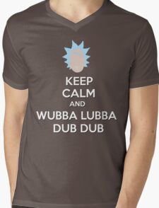 """Keep Calm and Wubba Lubba Dub Dub"" Mens V-Neck T-Shirt"