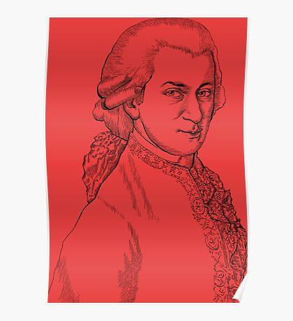 Wolfgang Amadeus Mozart drawing Poster