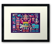 vector band and musicians  Framed Print