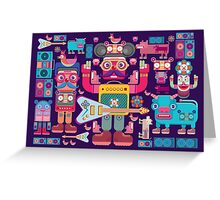 vector band and musicians  Greeting Card