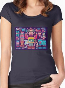 vector band and musicians  Women's Fitted Scoop T-Shirt