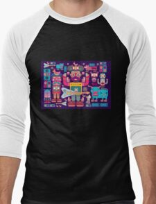 vector band and musicians  Men's Baseball ¾ T-Shirt